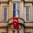 Stock Photo: Turkish Flag Hung from Istanbul Window