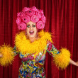 Foto de Stock  : Drag Queen Performing