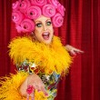 Foto Stock: Happy Drag Queen