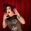 Foto Stock: Scared Drag Queen