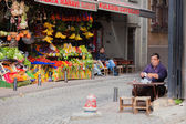Drinking Apple Tea in Istanbul — Foto Stock