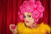 Verwaande drag queen — Stockfoto
