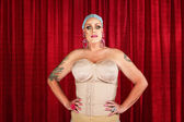 Drag Queen in Undergarments — Stock Photo