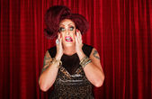 Uncertain Drag Queen — Stockfoto