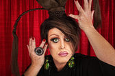 Dramática drag-queen — Fotografia Stock