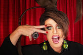 Lachen drag queen — Stockfoto