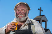 Old West Drunkard Drinks — Stock Photo