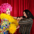 Desperate Drag Queen with Man — Foto de stock #37574961