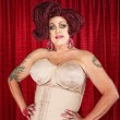 Foto de Stock  : Drag Queen in Girdle