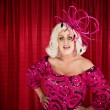 Stock Photo: Eccentric Drag Queen with Hands on Hip