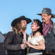 Stock Photo: Western Character Trio