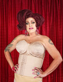 Drag Queen in Girdle — Stock Photo