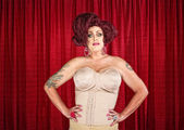 Drag Queen in Corset — Stock Photo