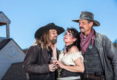 Western Character Trio — Stock Photo