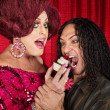 Foto Stock: Hungry Mand Drag Queen