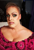 Female Impersonator Close-up — Stock Photo