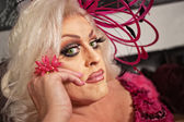 Close Up of Drag Queen — Stock Photo