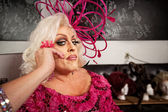 Serious Man in Drag — Stock Photo