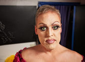 Drag Queen in Dressing Room — Stock Photo