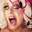 Singing Drag Queen — Stock Photo