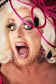 Singing Drag Queen — Stockfoto