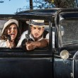 Tough Male and Female Gangsters — Stock Photo