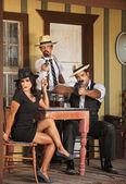 Three Whiskey Gangster Bootleggers — Foto de Stock