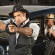 ������, ������: 1920s Era Gangsters with Guns and Car