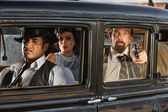 1920s Era Gangsters Drive By — Stock Photo
