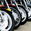 Stock Photo: MotorcycleWheels