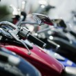 Stock Photo: Motorcycle Handlebar