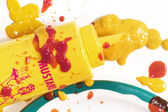 Mustard Mess — Stock Photo