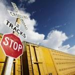 Train at Crossing — Stock Photo #39445069