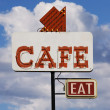 Cafe Eat Sign — Stock Photo