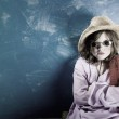 Mad Girl in a Hat and Glasses — Stock Photo