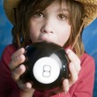 Little girl learns her future — Stock Photo #39448791