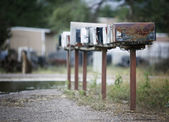 Rural Mailboxes — Stockfoto