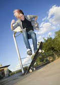 Teenage Skateboarder — Stockfoto