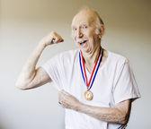 Senior Citizen Medal Winner — Stock Photo