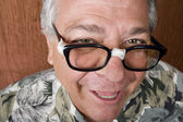 Silly Man with Taped Glasses — Stock Photo