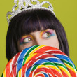 Young punk woman with a big lollipop — Stock Photo #39451581
