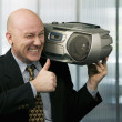 Businessmwith Boom Box — Stock Photo #39601889