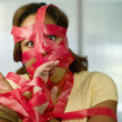 Stock Photo: Red Tape