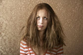 Young Woman with Messy Hair — Stock Photo