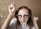 Nerdy Girl — Stock Photo