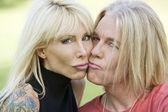 Modern Couple Kissing — Stock Photo