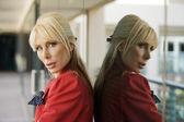красивая блондинка предприниматель — Стоковое фото