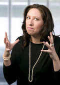 Frustrated Hispanic Woman — Stock Photo