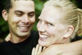 Hispanic Man and Blonde Woman — Stock Photo