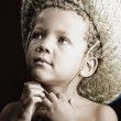 Little Boy in Straw Hat — Stock Photo #39611409